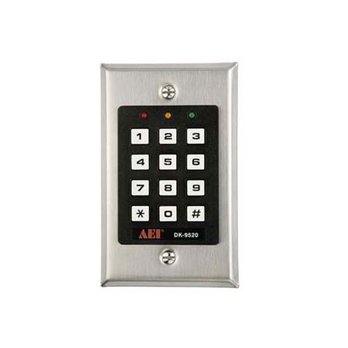 aei dk 9520 single relay output digital access control keypad ebay. Black Bedroom Furniture Sets. Home Design Ideas